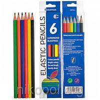 """Набор цветных карандашей Luminoso Elastico """"С"""", 6 цветов, фото 1"""