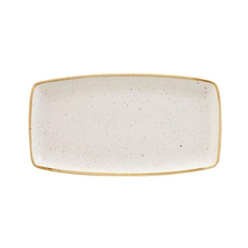 Тарелка прямоугольная 30х15 см. керамическая, бежевая Stonecast White Speckle, Churchill