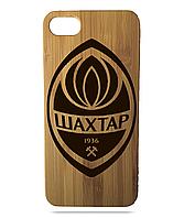 """Дерев'яний чохол  Wooden Cases для Apple iPhone 7/7s/8 з лазерним гравіюванням """"Шахтар"""""""