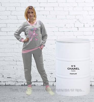 """Женская теплая пижама """"Пантерка"""" р.40-52"""