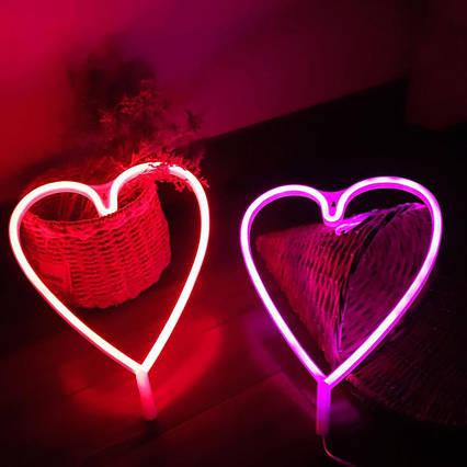 Ночник неоновый Сердце