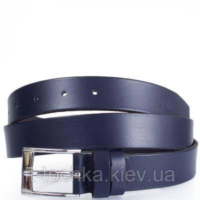Мужской кожаный ремень y.s.k. shi2005-9 темно-синий
