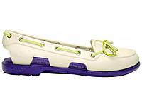 Женские Crocs Beach Line Boat Shoe Milk Purple (Реплика ААА+)