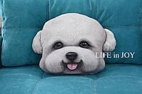 Подушка с 3D принтом собаки