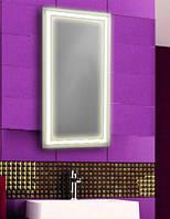 Зеркало с LED подсветкой настенное d-62 для ванной комнаты 600х1200 мм
