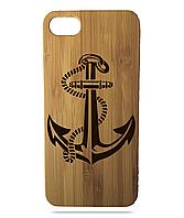 """Дерев'яний чохол  Wooden Cases для Apple iPhone 6 plus з лазерним гравіюванням """"Anchor"""""""