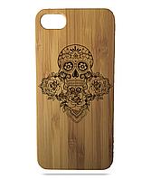 """Дерев'яний чохол  Wooden Cases для Apple iPhone 6 plus з лазерним гравіюванням """"Череп"""""""