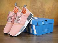 Кроссовки Adidas NMD R1 Pink Grey. Живое фото! Топ качество! (Реплика ААА+)