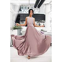 Платье в пол женское Вечернее однотон 1