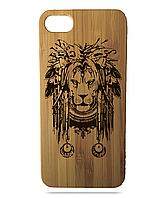 """Дерев'яний чохол  Wooden Cases для Apple iPhone 6 plus з лазерним гравіюванням """"Lion"""""""