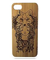 """Дерев'яний чохол  Wooden Cases для Apple iPhone 6 plus з лазерним гравіюванням """"Fox"""""""