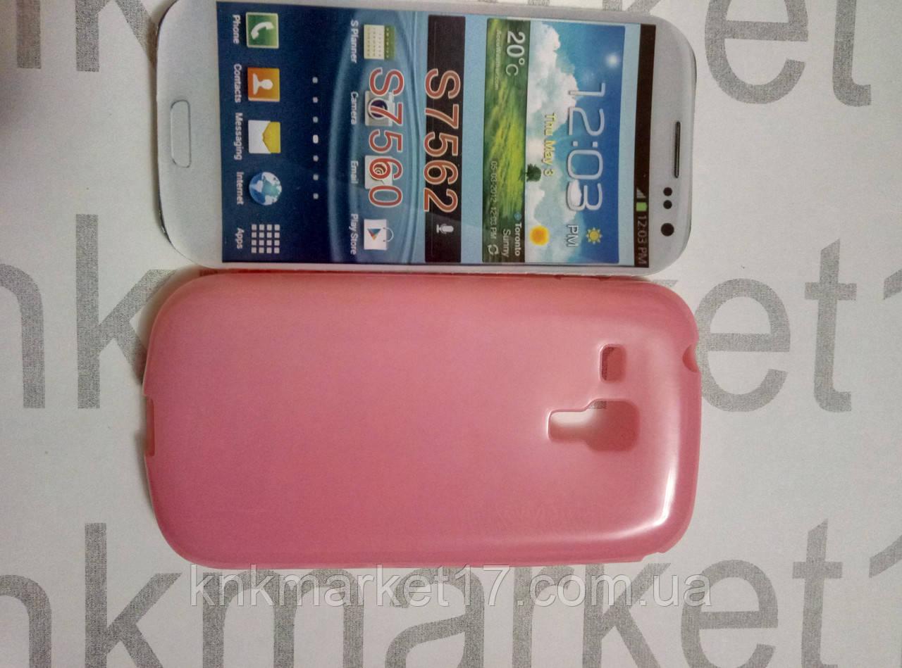 Case for Samsung s7562 zka/S7560, силікон, рожевий