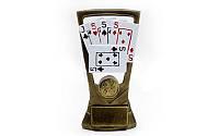 Статуэтка (фигурка) наградная спортивная Карточные игры C-3339-B8 (р-р 10х4х18см)