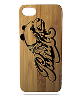 """Дерев'яний чохол  Wooden Cases для Apple iPhone 6 plus з лазерним гравіюванням """"Panda"""""""
