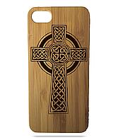 """Дерев'яний чохол  Wooden Cases для Apple iPhone 6 plus з лазерним гравіюванням """"Cross"""""""