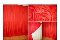 Готовая тюль-вуаль Красная