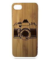 """Дерев'яний чохол  Wooden Cases для Apple iPhone 6 plus з лазерним гравіюванням """"Photo Camera"""""""