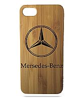 "Дерев'яний чохол  Wooden Cases для Apple iPhone 6 plus з лазерним гравіюванням ""Mercedes-Benz"""