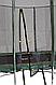 Прямоугольный батут KIDIGO™ 215 х 150 см. с защитной сеткой BT215-150, фото 4