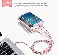Зарядное устройство Micro USB 3 в 1 USB Type C кабель для iPhone