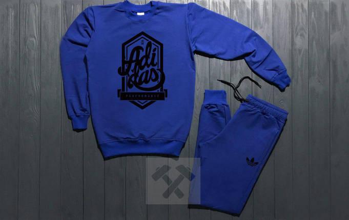 Костюм спортивный Adidas синий топ реплика, фото 2