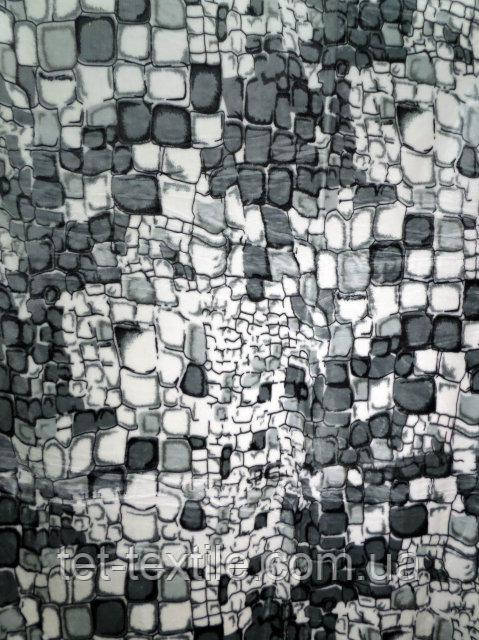 Плед акриловый облегченный True Love Камни серые (150x200)