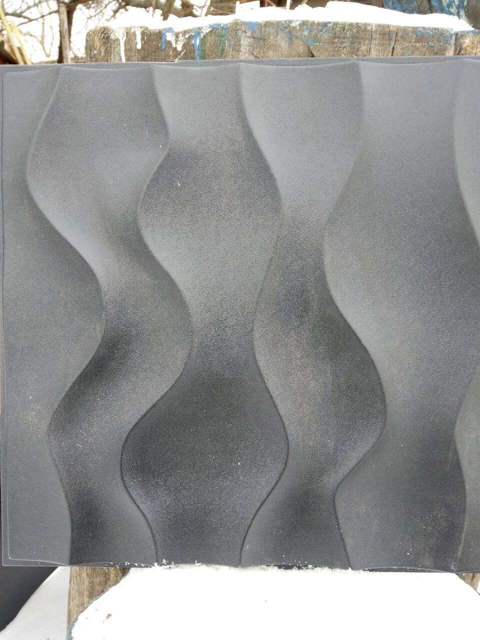 """Пластиковая форма для изготовления 3d панелей """"Эфир"""" 50*50 (форма для 3д панелей из абс пластика) - Форм-Мастер. Магазин форм для декора в Запорожской области"""