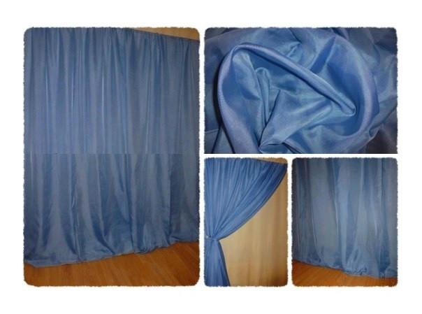 Готовая тюль - вуаль Сливовая (приглушенный синий)