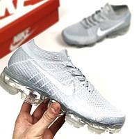 "Кроссовки Nike Air VaporMax ""Pale Grey"". Живое фото. Топ качество (Реплика ААА+)"