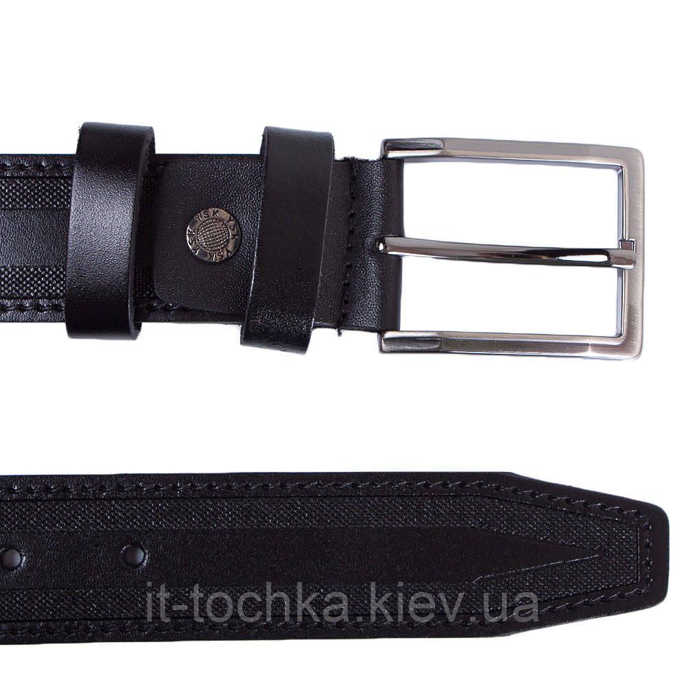 Мужской кожаный ремень с тиснением y.s.k. shi2025-1 черный