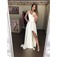 """Длинное платье макси женское белое """"Мерси"""""""
