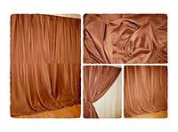Готовая тюль-вуаль Кофейная (коричневый)