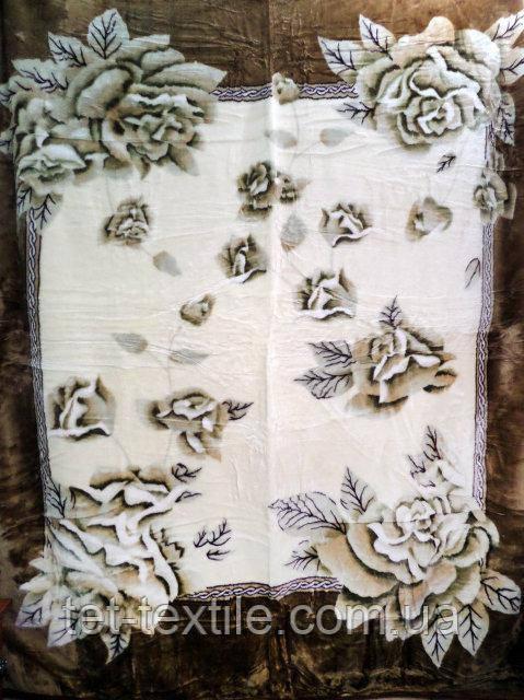 Плед акриловый облегченный True Love Розы листья (150x200)