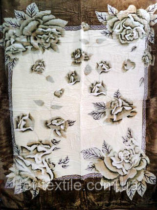 Плед акриловый облегченный True Love Розы листья (150x200), фото 2