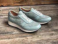 Кроссовки №478-6 голубой флотар+замша (21812+беж след), фото 1