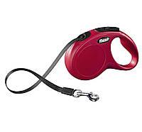 Поводок-рулетка Flexi NEW CLASSIC (Флекси Нью Классик) Tape L лента 5 м для собак до 50 кг (цвет в ассортименте)