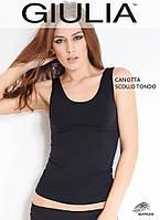 Майка Giulia Canotta SCOLLO TONDO L/XL NERO (черный)