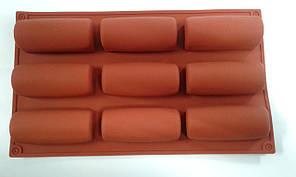 Форма силиконовая  баунти  9 шт (3  на 8 см)