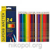 Набор цветных карандашей MARCO Superb Writer 4100-24CB, 24 цвета