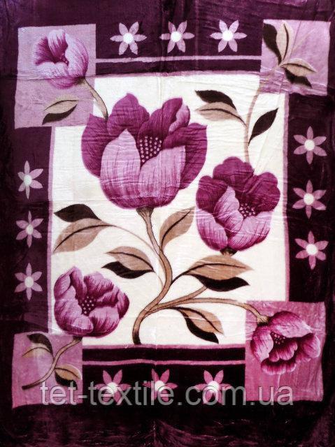 Плед акриловый облегченный True Love Фиолетовый первоцвет (150x200)