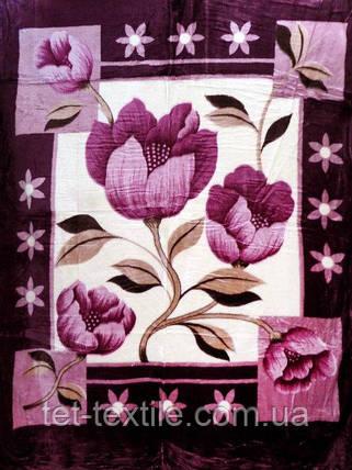 Плед акриловый облегченный True Love Фиолетовый первоцвет (150x200), фото 2