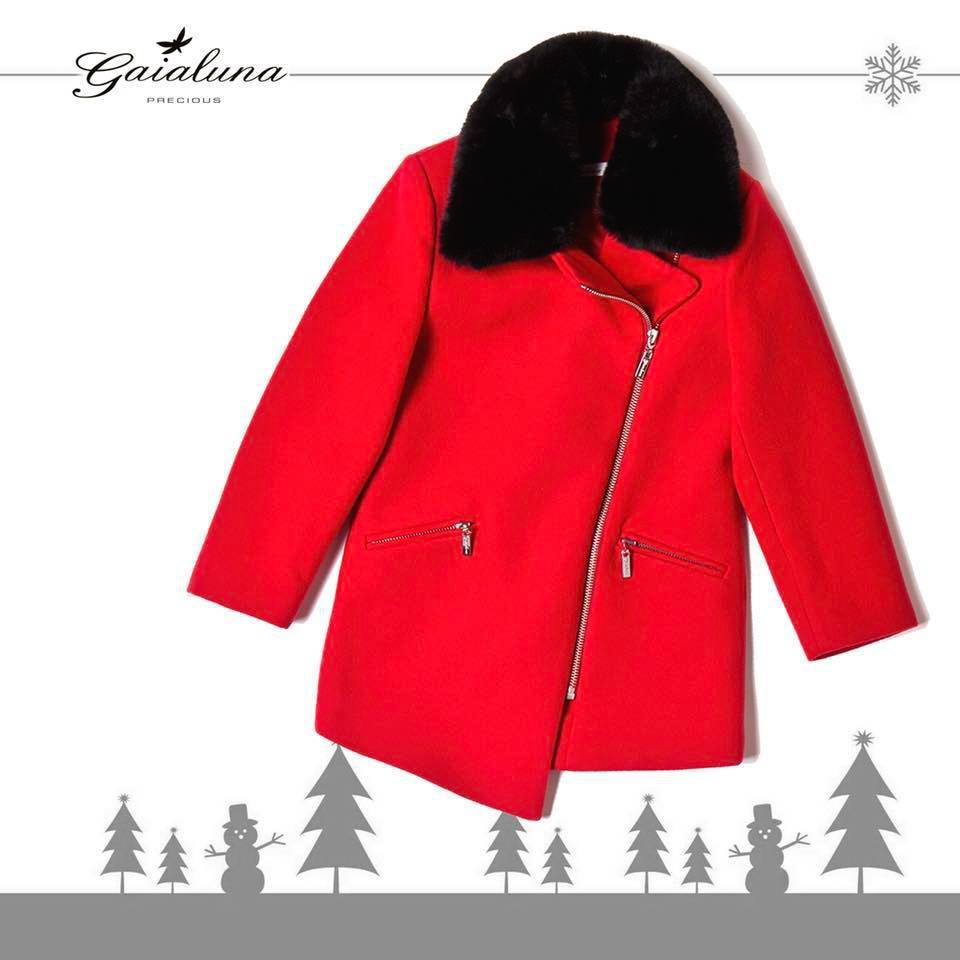 Женское пальто красное Gaialuna ( Италия)