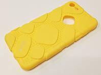 Чехол оригинальная резиновая противоударная накладка iFace (рисунок протектор) для iPhone 7 желтый