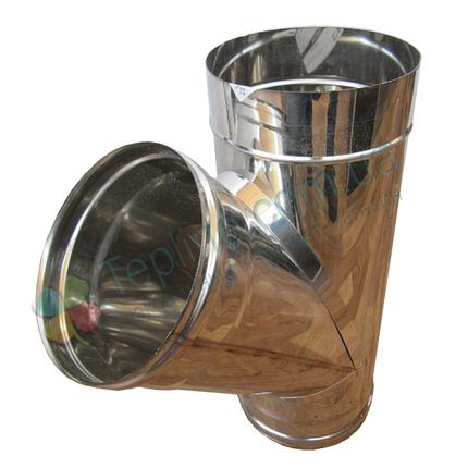 Трійник 45° для димоходу d 300 мм; 0,8 мм з нержавіючої сталі AISI 304 - «Версія-Люкс», фото 2