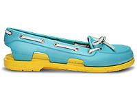 Женские Crocs Beach Line Boat Shoe Blue Yellow (Реплика ААА+)