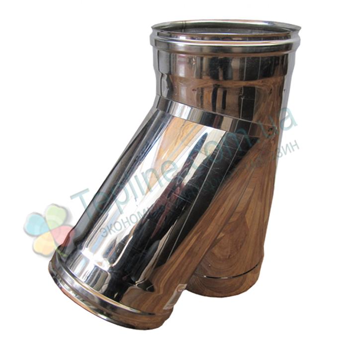 Трійник 45° для димоходу d 200 мм; 1 мм із нержавіючої сталі AISI 304 - «Версія-Люкс»