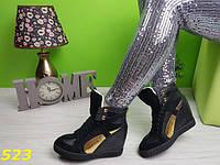 Сникерсы Касадеи черно-золотые  38размер, фото 1