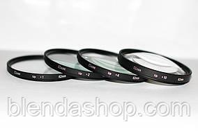 Набор светофильтров - макролинз CLOSE UP +1 +2 +4 +10 диаметром 62mm - 4 штуки