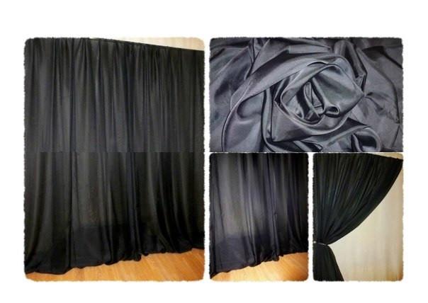 Готовая тюль-вуаль Черная