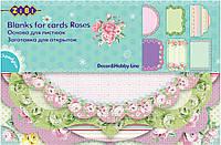 Заготовка для открыток, Roses, 10.2*15,3 см, Zibi, ZB.18202-AF, 4026653